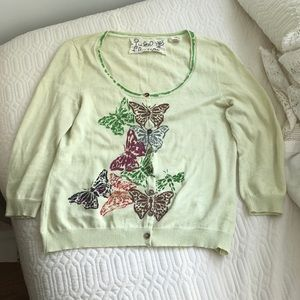 Anthropologie Butterfly Cardigan